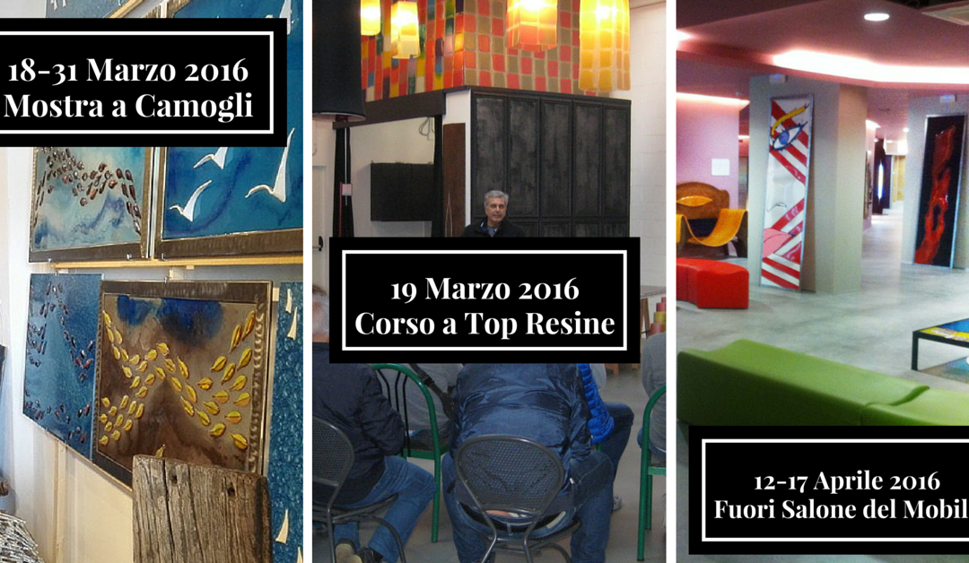 Top resine, tre eventi imperdibili