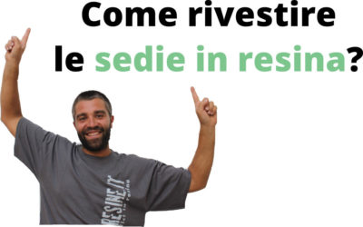 Sedie in resina: come crearle